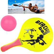 Racchette Da Spiaggia Racchettoni Mare In Legno Con Pallina In Gomma Giocare 836