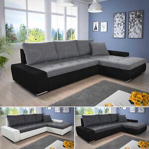 Ecksofa mit Schlaffunktion Faris - Couch mit Bettkasten, Sofagarnitur, Eckcouch