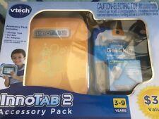 Vtech Innotab 2 Accessory Pack Orange Storage Tote Blue Gel Skin  AC Adapter NEW