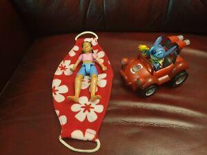 "WALT DISNEY Movies LILO & STITCH 5""  Friction Powered Figure car toy & Figure"
