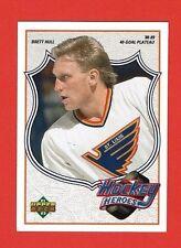 1991-92 Upper Deck BRETT HULL HEROES # 6 Brett Hull 88-89 40-GOAL PLATEAU
