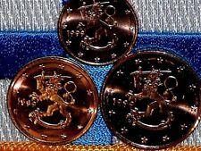 Rare Finlande 1999 Finlandia 1,2,5 Cent Piece Euro De Rouleau de Qualite UNC