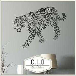 Leopard Wall Sticker Vinyl Art Transfer Decor Decal Beautfiul Big Cat Graphic UK