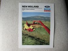 1989 Ford New Holland 116 Haybine Mower Conditioner Brochure
