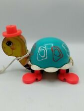 Fisher Price 1962 Turtle Pull Toy #773 Works