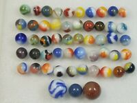 50 Old Corkscrew Marbles plus 2 big shooters, Special Collector's Bundle