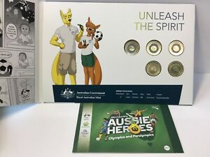 2020 Olympic Coin Set + Aussie Heros Stickers