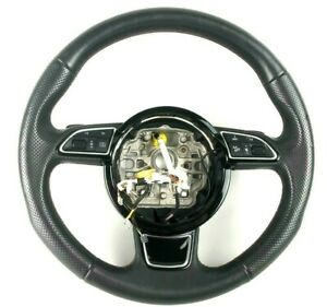 Audi A8 S8 D4 Interior Leather Multifunction Steering Wheel Paddle 4H0419091AE
