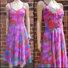 Pretty 80s Vintage Parigi Bright Floral Sun Dress