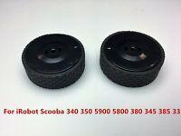 2PCS Black Wheels for iRobot Scooba 340 350 5900 5800 380 345 385 Vacuum Cleaner