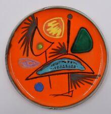 Atelier Cerenne Vallauris assiette à décor abstrait céramique des années 50 1950