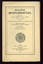 BULLETIN MONUMENTAL 1946 REIMS TOULOUSE SAINT JUNIEN  LUTZ EN DUNOIS