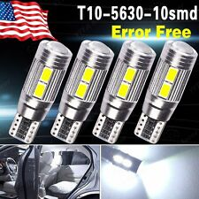 4x T10 White 194 W5W 5630 LED 10 SMD CANBUS ERROR FREE Car Side Wedge Light Bulb