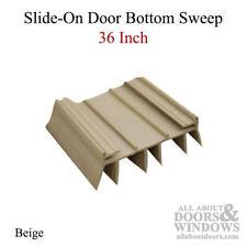 36 Inch Door Bottom/Sweep with 6 fins, Slide-on Type - Beige