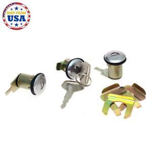 NEW DOOR LOCKS FUEL LID GAS LOCK SET Fit DATSUN NISSAN 720 PICKUP TRUCK 80-86