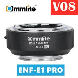 V08 Commlite CM-ENF-E1 PRO Focus Lens Adapter for Nikon F Lens to Sony E-mount