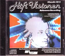 HIFI Visions-Classique-CD 4-RARE Audiophile CD 1989 reference Recording