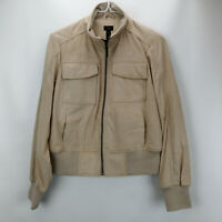 G.I.L.I. Faux Suede Bomber Jacket Soft Fawn 2 A311398