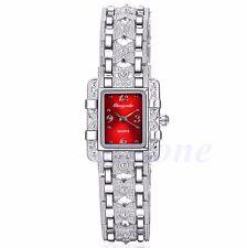 Fashion Girl Women Lady Silver Bracelet Quartz Wrist Watch Butterfly Black Dial