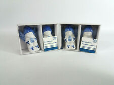 4 Christmas Ceramic Blue and White Angels for Christmas Trees - Decorations