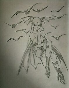 Morrigan Pencil Sketch (Original)
