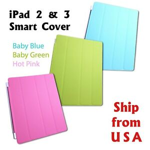 Smart Stand Magnetic Slim Leather Case Cover or ABS Back Case for iPad 4 3 2
