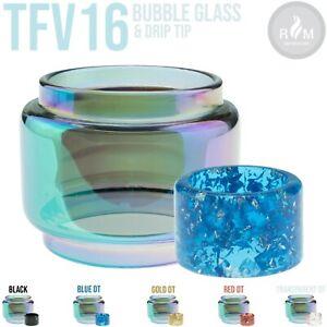 SMOK TFV16  Rainbow Bubble Glass & Resin Drip Tip Kit - Model DT05
