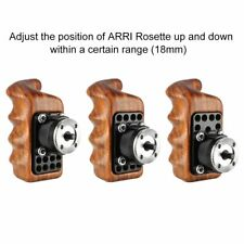 Niceyrig Wooden handle with Arri Rosette w/Fr Sony Nikon Canon Camera Cage Right
