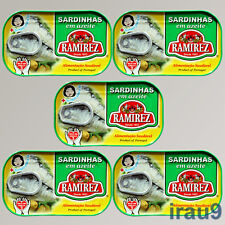 5 Cans Portuguese Sardines in Olive Oil 120g 4.23oz rich omega 3 Atlantic fish