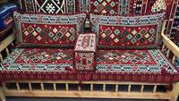 MESOPOTAMIA Sofa Corner Set PillowCase HOOKAH Lounge Couch Handwoven SIRI