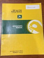 John Deere S80 and S82 Riding Mowers Operator's Manual