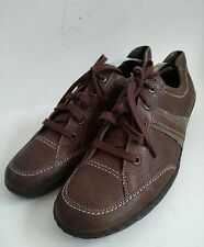 JENNY BY ARA BROWN WOMENS LEATHER TRAINER STYLE SHOES LACE UP SIZE UK 8 G EUR 41