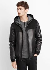 Vince Suede and Leather Hooded Jacket - $1,095 MSRP - Size MEDIUM - HOT!!!