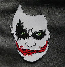 JOKER FACE BATMAN IRON ON 3.5 INCH EMBROIDERED PATCH