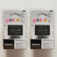 2x NP-FV100 Batteries Fr Sony HDR-CX/UX DCR-SR/XR DCR-HC DCR-DVD D-SLR HDR-TG