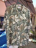 Campia Moda Mens Palm Tree Cruise Beach Hawaiian Camp Shirt XL Tropical floral