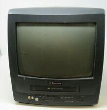 "EMERSON 13"" CRT TV/VCR COMBO EWC1304, COLOR RETRO GAMING TELEVISION, RCA JACKS"