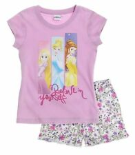 Vêtements violet à manches courtes pour fille de 2 à 16 ans en 100% coton