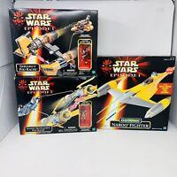 Star Wars Episode I Electronic Naboo Fighter Sebulbas Anakin Skywalker Pod Racer