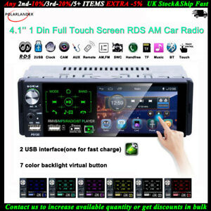 4''1 Din Car Radio Full Touch Screen Bluetooth FM Stereo AM RDS MP5 Player 2USB