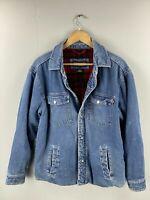 Craftsman Men's Vintage Denim Lined Jacket - Size Medium Blue