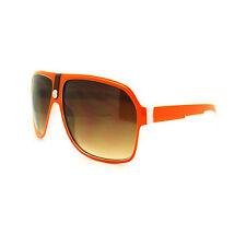 Mens Mobster Flat Top Millionaire Leather Bridge Retro Oversized Sunglasses