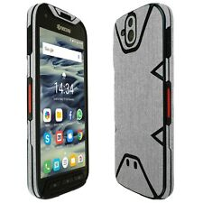 Skinomi Brushed Aluminum Skin+Clear Screen Protector for Kyocera DuraForce PRO