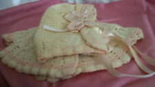 Beautiful Hand Made Hat & Jacket For Your Big Antique Baby Doll Dy-Dee Baby?