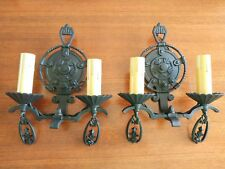Pair of Restored Lincoln #1880 Sconces - Refurbished and Ready to Use!