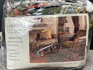 "Vintage Croscill Furniture Cover For Sofa 90"" x 140"" Rimini Floral New"