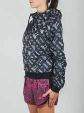 BNWT Size Large Women's Nike City Allover Print Running Hooded Jacket Black