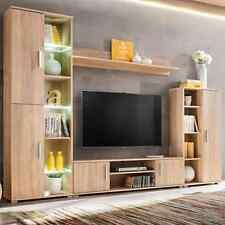 Vidaxl Unité murale TV avec Lumières LED Chêne Sonoma