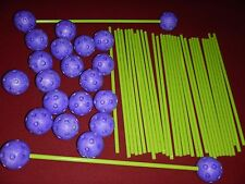 34 Replacement Poles Green Everest Toys Crazy Forts & 22 Purple Balls