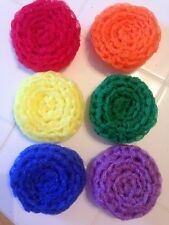 6 Rainbow Color -- NYLON NET POT SCRUBBIES